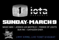 1iota Presents: Austin Music Night & Jimmy Kimmel Live Ticket Giveaway