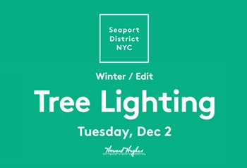 South Street Seaport's Tree Lighting Ceremony
