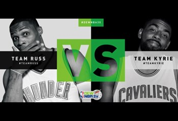 Dew NBA 3X All-Star Edition: Team Kyrie vs Team Russ